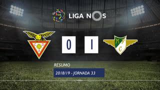Liga NOS (33ªJ): Resumo CD Aves 0-1 Moreirense FC