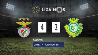 Liga NOS (29ªJ): Resumo SL Benfica 4-2 Vitória FC