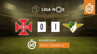 Liga NOS (20ªJ): Resumo Flash Belenenses 0-1 Moreirense FC