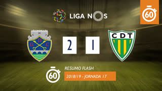 Liga NOS (17ªJ): Resumo Flash GD Chaves 2-1 CD Tondela