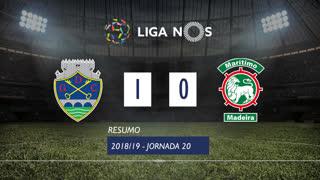 Liga NOS (20ªJ): Resumo GD Chaves 1-0 Marítimo M.