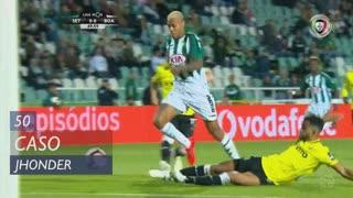 Vitória FC, Caso, Jhonder aos 50'