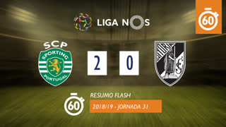 Liga NOS (31ªJ): Resumo Flash Sporting CP 2-0 Vitória SC