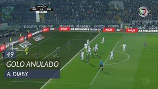 Sporting CP, Golo Anulado, A. Diaby aos 49'