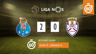 Liga NOS (8ªJ): Resumo Flash FC Porto 2-0 CD Feirense