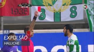 Moreirense FC, Expulsão, Halliche aos 83'