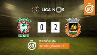 Liga NOS (19ªJ): Resumo Flash Marítimo M. 0-2 Rio Ave FC