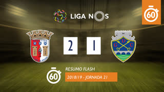 Liga NOS (21ªJ): Resumo Flash SC Braga 2-1 GD Chaves