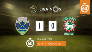 Liga NOS (20ªJ): Resumo Flash GD Chaves 1-0 Marítimo M.