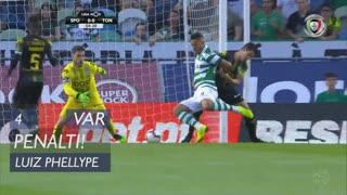 Sporting CP, Penálti, Luiz Phellype aos 4'