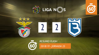 Liga NOS (25ªJ): Resumo Flash SL Benfica 2-2 Belenenses SAD