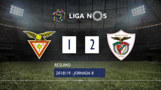 Liga NOS (8ªJ): Resumo CD Aves 1-2 Sta. Clara