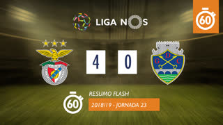 Liga NOS (23ªJ): Resumo Flash SL Benfica 4-0 GD Chaves