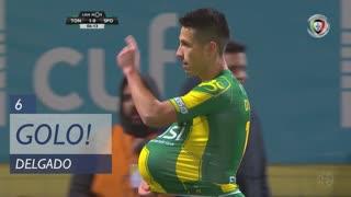 GOLO! CD Tondela, Delgado aos 6', CD Tondela 1-0 Sporting CP