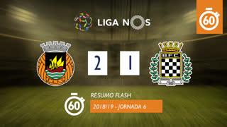 Liga NOS (6ªJ): Resumo Flash Rio Ave FC 2-1 Boavista FC