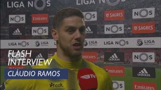 Liga (27ª): Flash Interview Cláudio Ramos
