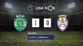 Liga NOS (4ªJ): Resumo Sporting CP 1-0 CD Feirense