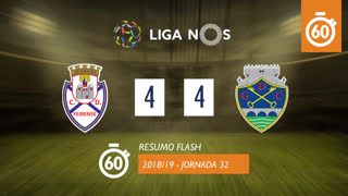 Liga NOS (32ªJ): Resumo Flash CD Feirense 4-4 GD Chaves