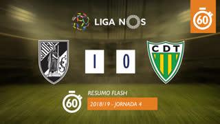 Liga NOS (4ªJ): Resumo Flash Vitória SC 1-0 CD Tondela