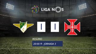 Liga NOS (3ªJ): Resumo Moreirense FC 1-1 Belenenses