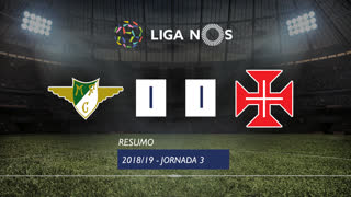 Liga NOS (3ªJ): Resumo Moreirense FC 1-1 Belenenses SAD