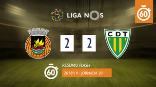 Liga NOS (20ªJ): Resumo Flash Rio Ave FC 2-2 CD Tondela