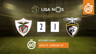 Liga NOS (20ªJ): Resumo Flash Sta. Clara 2-1 Portimonense