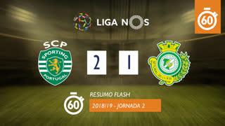Liga NOS (2ªJ): Resumo Flash Sporting CP 2-1 Vitória FC