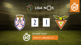 I Liga (34ªJ): Resumo Flash CD Feirense 2-1 CD Aves