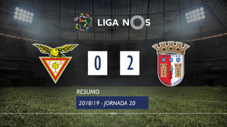 Liga NOS (20ªJ): Resumo CD Aves 0-2 SC Braga