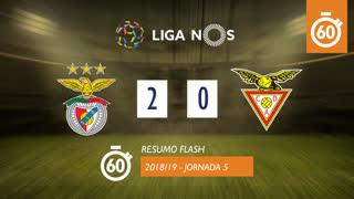 Liga NOS (5ªJ): Resumo Flash SL Benfica 2-0 CD Aves