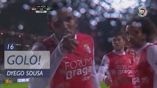 GOLO! SC Braga, Dyego Sousa aos 16', SC Braga 1-0 Vitória FC