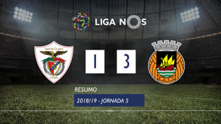 I Liga (5ªJ): Resumo Sta. Clara 1-3 Rio Ave FC