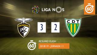Liga NOS (11ªJ): Resumo Flash Portimonense 3-2 CD Tondela
