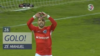 GOLO! Sta. Clara, Zé Manuel aos 26', Sta. Clara 1-0 Vitória SC
