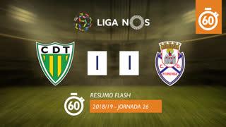 Liga NOS (26ªJ): Resumo Flash CD Tondela 1-1 CD Feirense