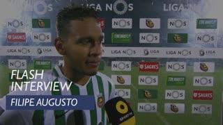Liga (31ª): Flash Interview Filipe Augusto