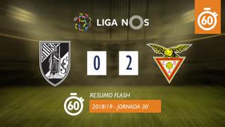 Liga NOS (30ªJ): Resumo Flash Vitória SC 0-2 CD Aves