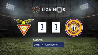 Liga NOS (11ªJ): Resumo CD Aves 2-3 CD Nacional