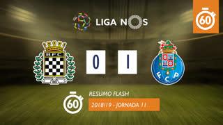 Liga NOS (11ªJ): Resumo Flash Boavista FC 0-1 FC Porto