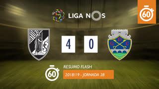 Liga NOS (28ªJ): Resumo Flash Vitória SC 4-0 GD Chaves