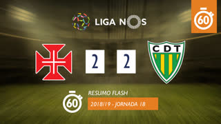 Liga NOS (18ªJ): Resumo Flash Belenenses 2-2 CD Tondela