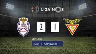 Liga NOS (34ªJ): Resumo CD Feirense 2-1 CD Aves