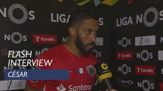 Liga (30ª): Flash Interview César