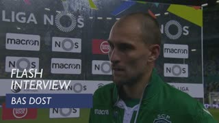 Liga (12ª): Flash interview Bas Dost