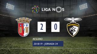 Liga NOS (34ªJ): Resumo SC Braga 2-0 Portimonense