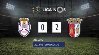 Liga NOS (30ªJ): Resumo CD Feirense 0-2 SC Braga