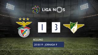 Liga NOS (9ªJ): Resumo SL Benfica 1-3 Moreirense FC