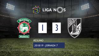 Liga NOS (7ªJ): Resumo Marítimo M. 1-3 Vitória SC