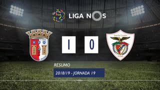 Liga NOS (19ªJ): Resumo SC Braga 1-0 Sta. Clara